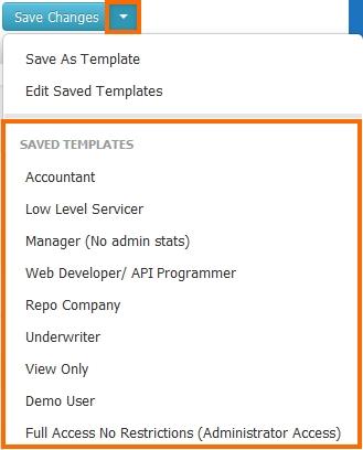 Apply Access Settings Templates