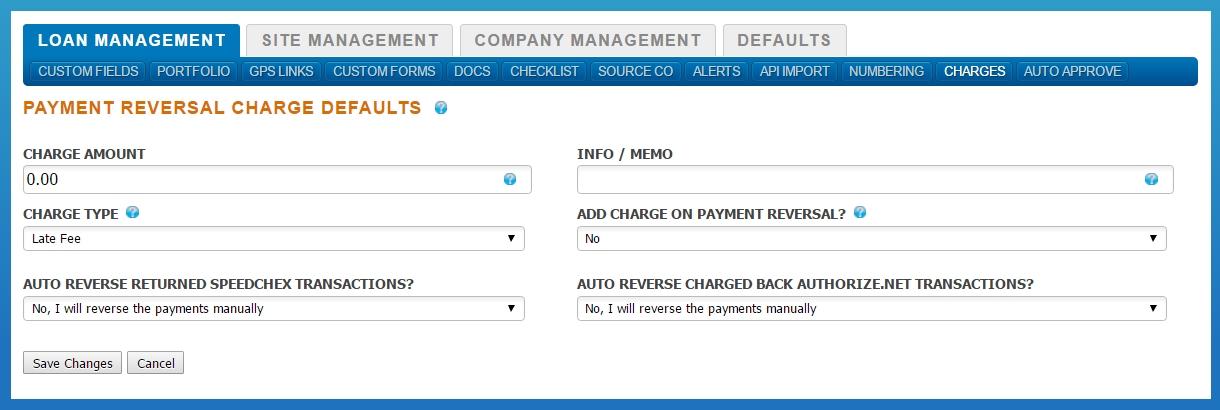 Payment Reversal Defaults