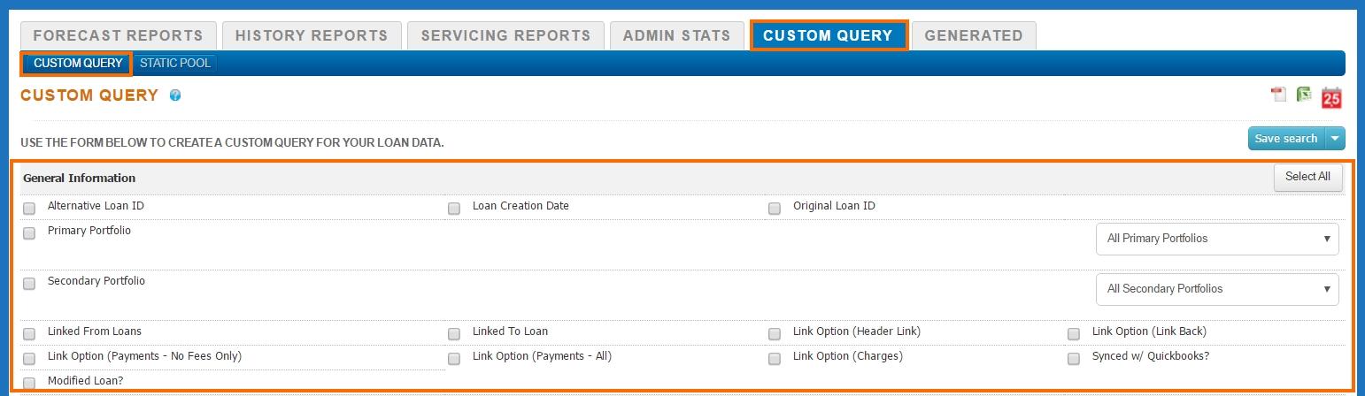 Reports - Custom Query - Custom Query Expand