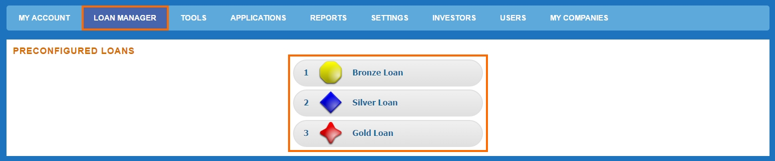 new-loan-creation-preconfigured-options
