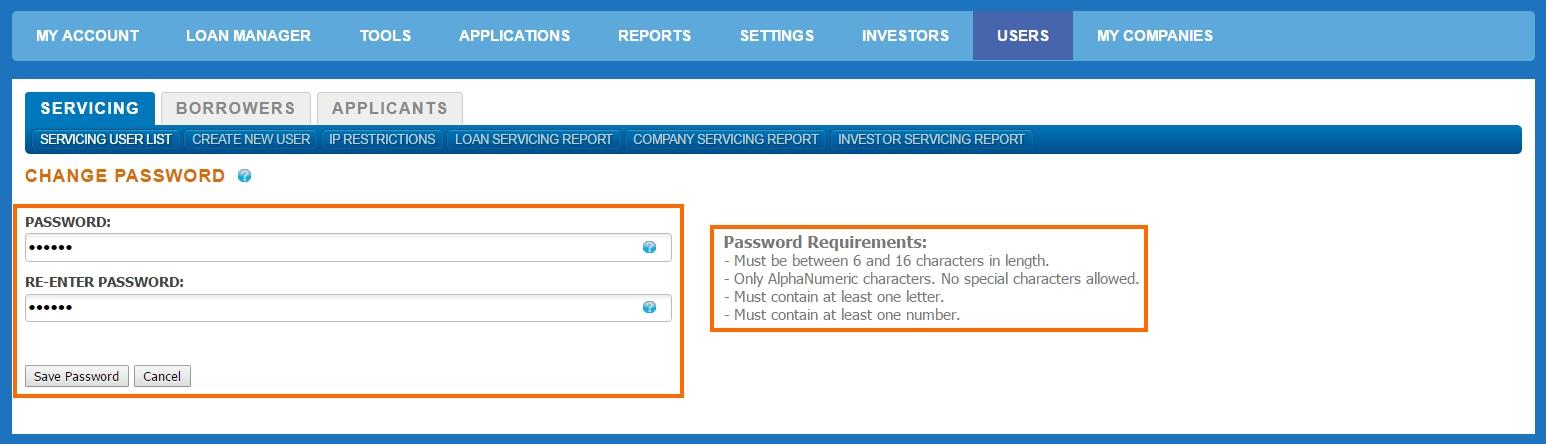 Servicing User Password Reset – AutoPal Help