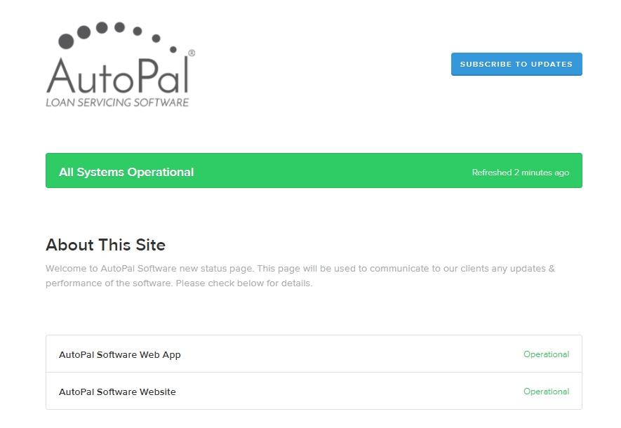 autopal-software-status-page